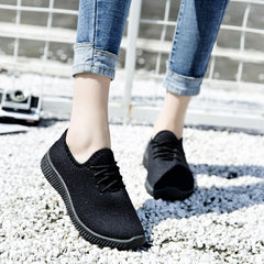 - Women Casual Sneakers Tenis Feminino Female Summer Knitted Breathable Women Vulcanized Shoes Zapato Mujer Trainers Size 35-41 - guiro - Zeinab Fashion