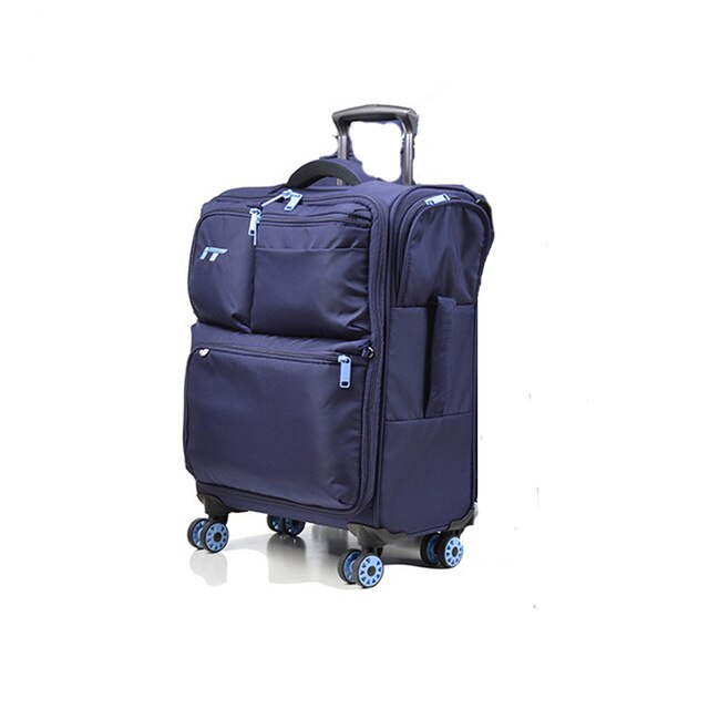 ,Oxford Trolley case,Travel suitcase,20-inch for male and female Boarding box,Password Luggage, Zipper Universal wheel valise,guiro,Zeinab Fashion.