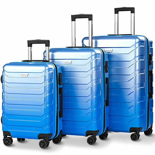 - Suitcase Set ABS Carry on Travel Luggage Spinner Wheels Suitcase Trolley Designer Luggage - guiro - Zeinab Fashion