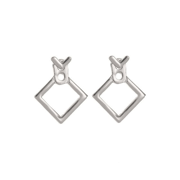 Jewelry - Trendy Cute Earrings Jewellery Geometric Square V Word Stud Earrings For Women Fashion Jewelry 2019 Oorbellen - guiro - Zeinab Fashion