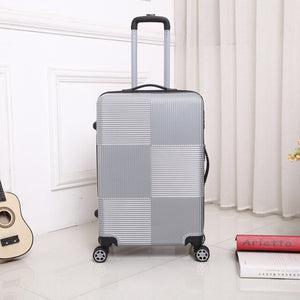 - travel Rolling luggage Sipnner wheel ABS+PC Women suitcase on wheels men fashion cabin carry-on trolley box luggage 20/28 inch - guiro - Zeinab Fashion