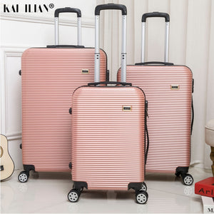- HOT 20/24/28 inch rolling luggage Sipnner wheels ABS+PC Women travel suitcase men fashion cabin carry-on trolley box luggage - guiro - Zeinab Fashion