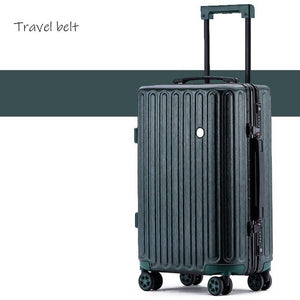 - Travel Belt high quality Retro 100% aluminum frame Rolling Luggage Spinner brand Travel Bags Men Women Password Suitcase Wheels - guiro - Zeinab Fashion