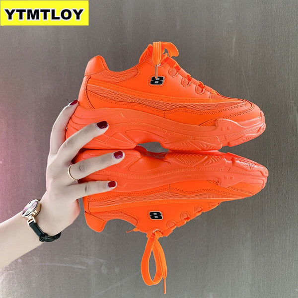 - 2019  Shoes Women Fashion Brand Platform Sneaker Lady Autumn Winter Footwear Breathable Chaussure Soft Zapatos De Mujer Orange - guiro - Zeinab Fashion