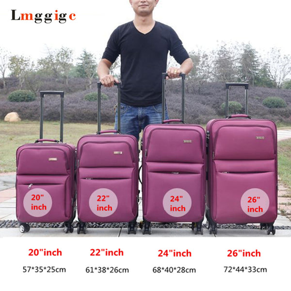 - Cloth Trolley Case, Universal Wheel Travel Shell, Large Capacity Luggage, Student Password Box, Portable Boarding suitcase - guiro - Zeinab Fashion