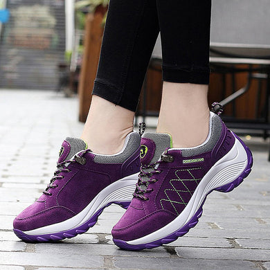 ,Sneakers women spring autumn casual lace-up platform shoes woman wedge comfortable women shoes lady sport shoes high increase,guiro,Zeinab Fashion.