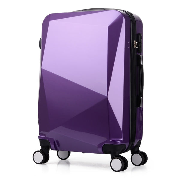 "Luggage - Hot 20""24 Inches Diamond Cut Surface 3d Extrusion Abs+pc Pull Rod Box Travel Luggage Suitcase Creative Boarding Box - guiro - Zeinab Fashion"