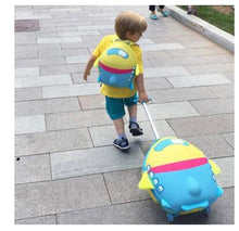 Load image into Gallery viewer,  - wheeled suitcase for girls Cartoon Suitcase for Kids Children Travel Trolley Suitcase for boys Rolling luggage suitcase backpack - guiro - Zeinab Fashion