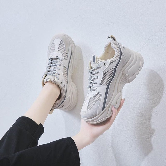 ,Women Sneakers 2019 Fashion Casual Shoes Woman Comfortable Breathable White Flats Female Platform Chaussure Femme Reflective,guiro,Zeinab Fashion.