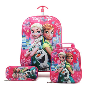 - Children Anime Travel Trolley Case Kids Travel 3PCS/set Suitcase Boy Girl Creative Cartoon Pencil Box Children Christmas Gift - guiro - Zeinab Fashion