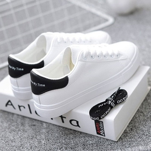 - BODENSEE White Sneakers Women Canvas Shoes Women Fashion Vulcanize Shoes Summer Casual Zapatillas Mujer Plus Size 35-42 - guiro - Zeinab Fashion