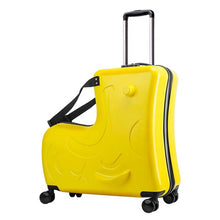 Load image into Gallery viewer,  - new Kids Riding Trojanl Luggage Hot Boys Girls Travel Trolley Alloy Children Sitting Rolling Luggage Suitcase Spinner Wheels - guiro - Zeinab Fashion