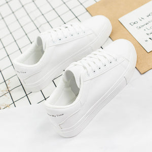 ,2019 New Spring Shoes Woman Lace-Up White Shoes Woman PU Leather Solid Color Female Shoes Casual Women Shoes Sneakers EUR 36-42,guiro,Zeinab Fashion.