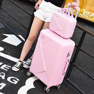 ,2PCS/SET 14inch Cosmetic bag 20/22/24/28 inches girl students trolley case Travel spinner luggage rolling suitcase Boarding box,guiro,Zeinab Fashion.