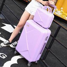 Load image into Gallery viewer, ,2PCS/SET 14inch Cosmetic bag 20/22/24/28 inches girl students trolley case Travel spinner luggage rolling suitcase Boarding box,guiro,Zeinab Fashion.