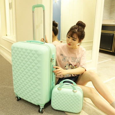 - Men and women boutique luggage set,High quality ABS suitcase,Large 28