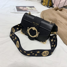Load image into Gallery viewer, ,Brand Women Messenger Bag Broadband Shoulder Bag Fashion Small Square Bag Leather Luxury Handbag Women Bags Designer Bolso Mujer,guiro,Zeinab Fashion.