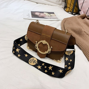 ,Brand Women Messenger Bag Broadband Shoulder Bag Fashion Small Square Bag Leather Luxury Handbag Women Bags Designer Bolso Mujer,guiro,Zeinab Fashion.