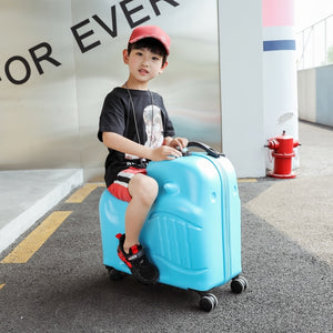 - New Children Rolling Luggage Spinner 20 inch Wheels Suitcase Kids Cabin Trolley Student Travel Bag Cute Baby Carry On Trunk - guiro - Zeinab Fashion