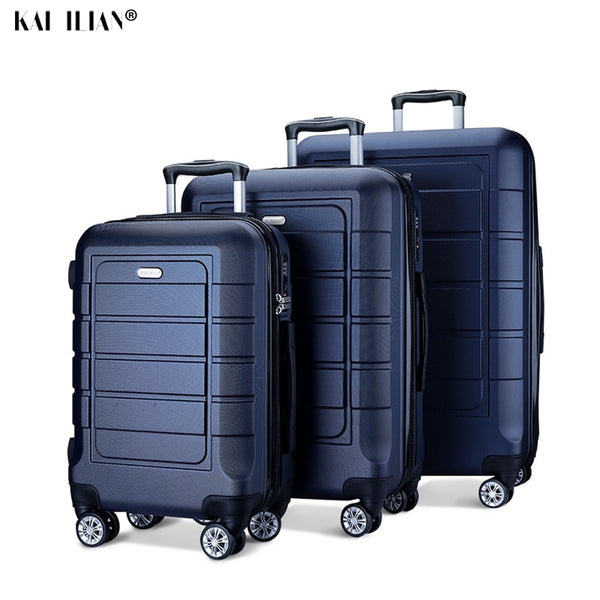 - New 20''24/28 inch Luggage set Travel suitcase on wheels trolley luggage Cabin suitcase carry on hardside luggage fashion bag - guiro - Zeinab Fashion