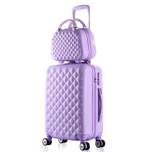 Load image into Gallery viewer,  - 2PCS/SET fashion Cosmetic bag 20/22/24/28 inch girl students trolley case Travel spinner Password luggage woman rolling suitcase - guiro - Zeinab Fashion