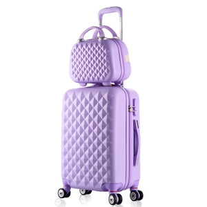 - 2PCS/SET fashion Cosmetic bag 20/22/24/28 inch girl students trolley case Travel spinner Password luggage woman rolling suitcase - guiro - Zeinab Fashion