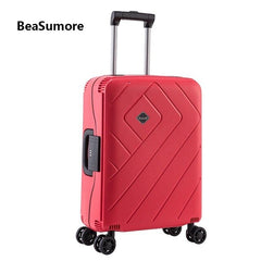 - BeaSumore Password Rolling Luggage Spinner 24/28 inch Ultralight PP Women Suitcase Wheel high quality 20 inch Cabin Trolley - guiro - Zeinab Fashion
