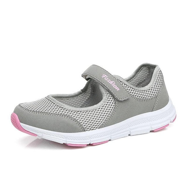 - NAUSK Fashion Women Sneakers Casual Shoes Female Mesh 2019 Summer Shoes Breathable Trainers Ladies Basket Femme Tenis Feminino - guiro - Zeinab Fashion