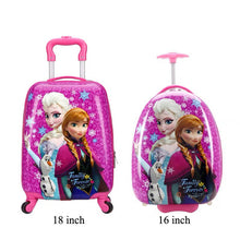 Load image into Gallery viewer,  - 16/18 inch Kids Cartoon rolling luggage children travel suitcase on wheel trolley luggage Wheels Girls School backpack bag - guiro - Zeinab Fashion
