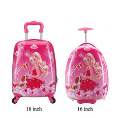 - Girls Anime Trolley Suitcase Kids Climb The Stairs Children School Bags with 2 Wheels for Girls Removable Trolley Bag - guiro - Zeinab Fashion