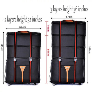 - waterproof 32 36 inch Large capacity Oxford cloth rolling luggage bag abroad to study and move to move folding trolley suitcase - guiro - Zeinab Fashion