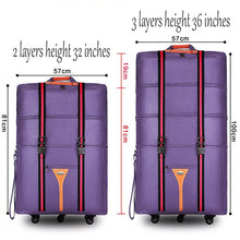 Load image into Gallery viewer,  - waterproof 32 36 inch Large capacity Oxford cloth rolling luggage bag abroad to study and move to move folding trolley suitcase - guiro - Zeinab Fashion
