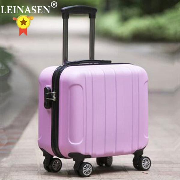 "- 18"" Travel Luggage Suitcase Spinner Wheels Boarding case Trolley Suitcase Wheeled Travel rolling luggage suitcase on wheels - guiro - Zeinab Fashion"