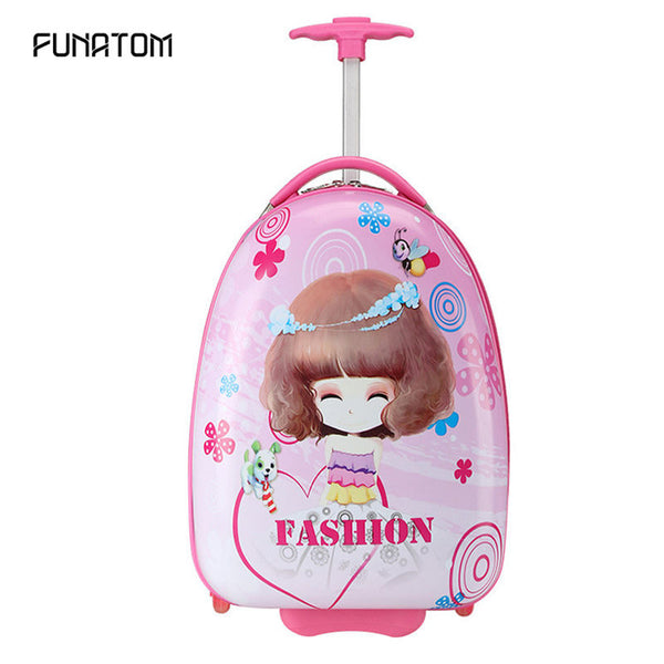 - Travel Luggage bags Case School Bags for Girls Boys Waterproof Kids Book Bag Girls Anime Trolley Suitcase Kids Climb The Stairs - guiro - Zeinab Fashion