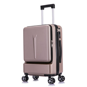 ",BXJZHTLRZK new suitcase front open computer bag high quality business 20"" 24"" rolling luggage boarding student suitcase,guiro,Zeinab Fashion."