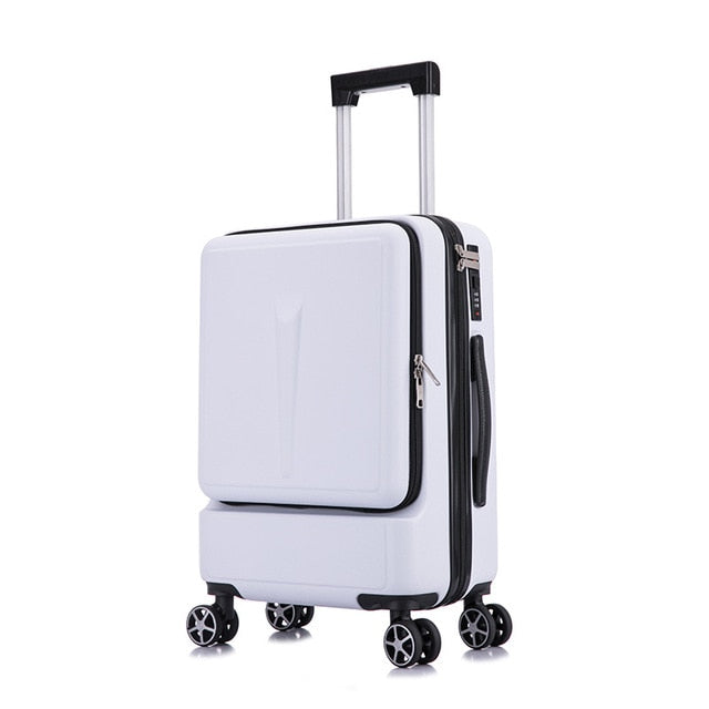 ,BXJZHTLRZK new suitcase front open computer bag high quality business 20