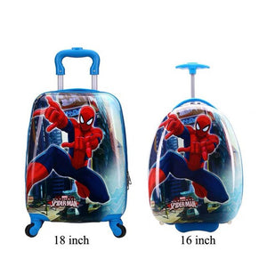 - trolley suitcase with wheels child rolling luggage kid travel cabin suitcase cartoon Boys Girls School backpack bag - guiro - Zeinab Fashion
