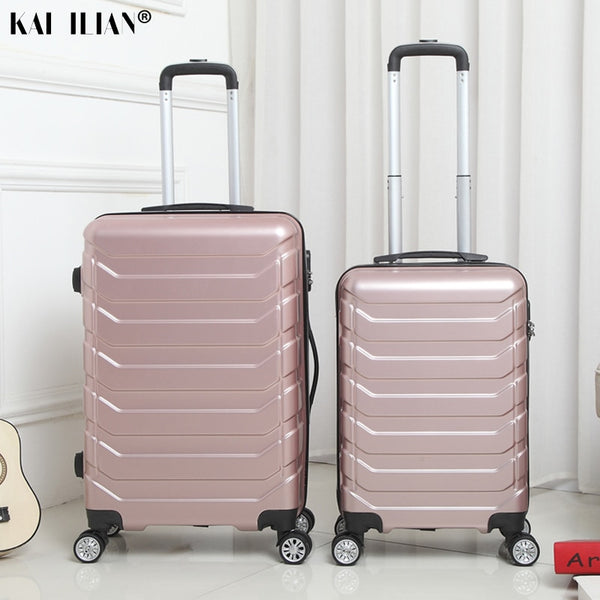 - Suitcase With Wheels Travel Cabin Spinner Rolling Luggage Women Trolley Case Box ABS+PC For Male Boarding Suitcase - guiro - Zeinab Fashion