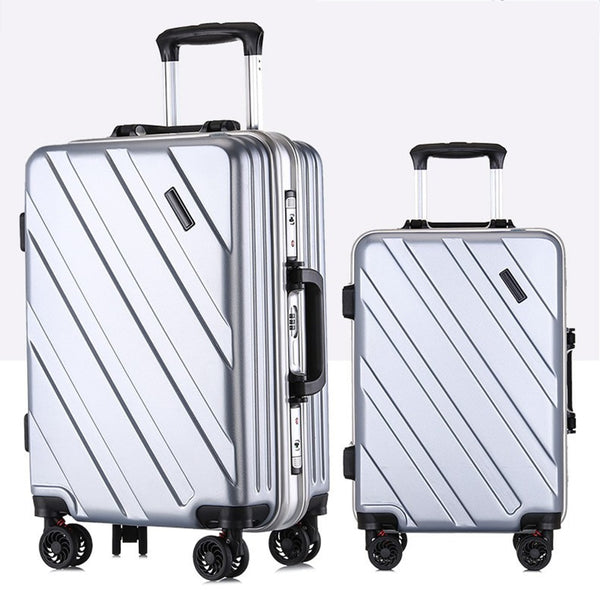 - New Suitcase Ultra Light Suitcase Wheel 360 Degree Rotating Suitcases PC Waterproof Fashion Travel Zipper Box - guiro - Zeinab Fashion