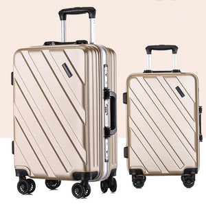 ,New Suitcase Ultra Light Suitcase Wheel 360 Degree Rotating Suitcases PC Waterproof Fashion Travel Zipper Box,guiro,Zeinab Fashion.