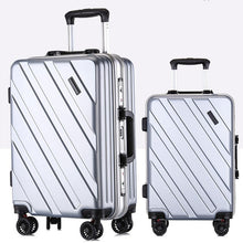 Load image into Gallery viewer, ,New Suitcase Ultra Light Suitcase Wheel 360 Degree Rotating Suitcases PC Waterproof Fashion Travel Zipper Box,guiro,Zeinab Fashion.