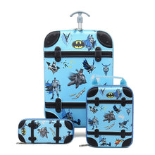 Load image into Gallery viewer,  - 3PCS/set cartoon Spider Man students trolley case kids Climb stairs Luggage Travel stereo suitcase The Avengers child pencil box - guiro - Zeinab Fashion
