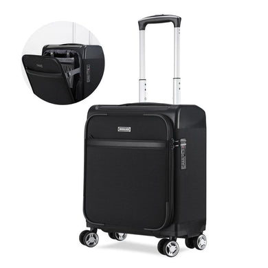 ,Uniwalker Lightweight Carry-on Suitcase Softside Cabin Case Spinner Underseat Luggage with TSA Lock,guiro,Zeinab Fashion.