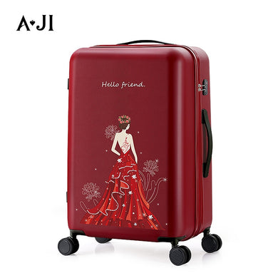 - Noble Princess Women Carry Ons Luggage Travel Suitcase Rolling Luggage Trolley Case PC Mute Spinner Wheels TSA Lock A7012 - guiro - Zeinab Fashion
