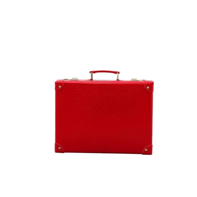 - Red luggage crocodile skin suitcase girls travel luggage rolling spinner password lock high quality free shipping - guiro - Zeinab Fashion