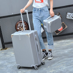 "- RTYCDG New 2PCS / 14"" Cosmetic Bag 20/26 Inch Brand Men's Trolley Case Luggage Travel Bag Student Ladies Rolling Suitcase - guiro - Zeinab Fashion"
