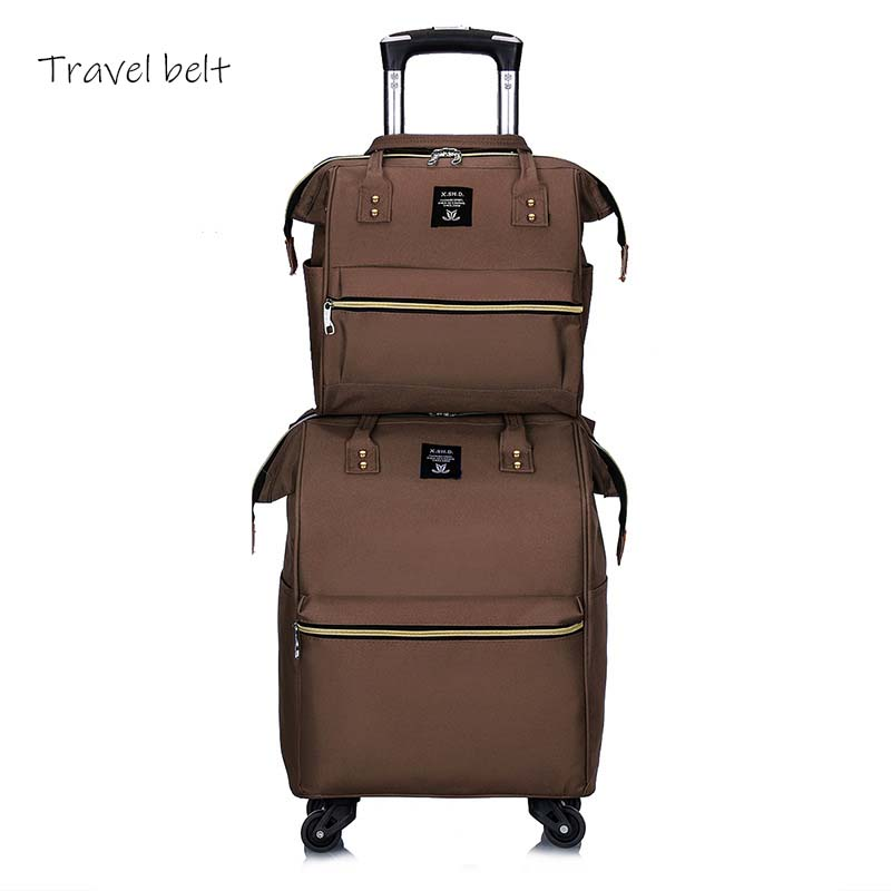 Travel Belt 20 inch oxford Rolling Luggage set Spinner Women Brand Suitcase  Wheels Men Business Carry On Travel Bags