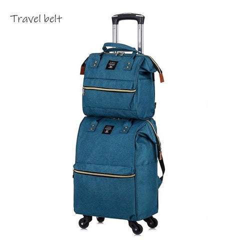 - Travel Belt 20 inch oxford Rolling Luggage set Spinner Women Brand Suitcase Wheels Men Business Carry On Travel Bags - guiro - Zeinab Fashion