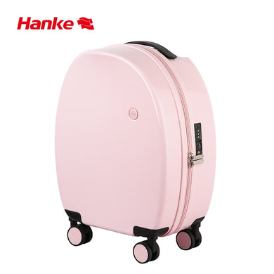 ,Hanke Unique Design Spinner Luggage Suitcase Mute Wheel Trolley Case Travel Rolling Wheels Luggage Cute 17.5 Inch H9818,guiro,Zeinab Fashion.