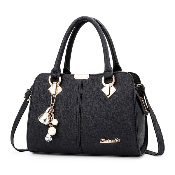 - Women Handbag Shoulder Bag Girls Fashion Famous Design Leather Big Casual Tote High Quality Hasp Casual Black New 2019 - guiro - Zeinab Fashion